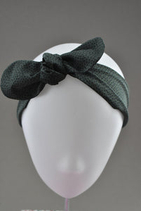 Kids Tot Knot Tie hairband - Liberty of London Green Marco print