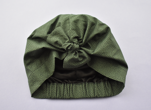 Little Land Girl Baby Hat - Liberty of London Green Marco