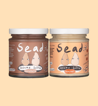 Load image into Gallery viewer, Chocolate & Caramel Sesame Butter Bundle (2 Pack)