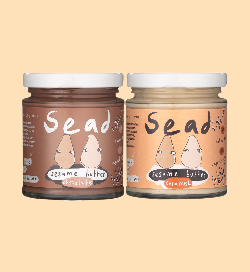 Chocolate & Caramel Sesame Butter Bundle (2 Pack)