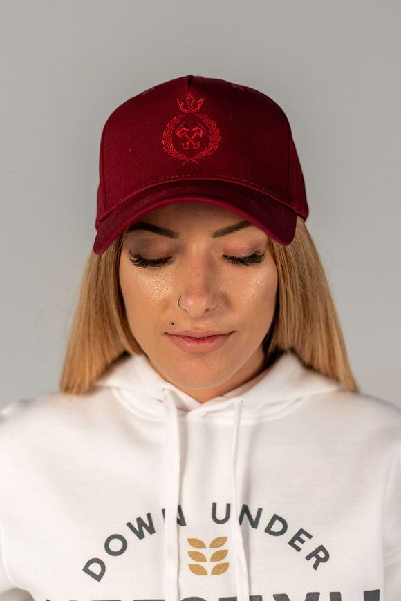 King of the track Snapback - Burgundy