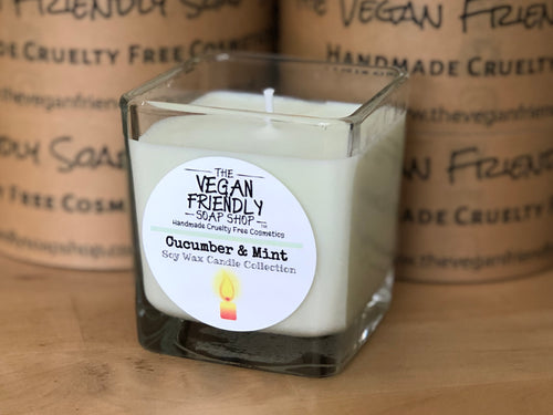 Cucumber & Mint - Natural Soy Wax Candle