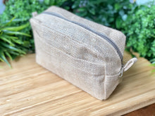 Load image into Gallery viewer, Natural Jute Wash Bag with side pocket