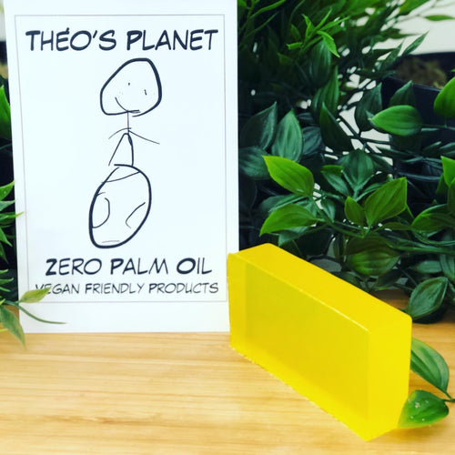 New! Lemon, Allergen Free Fragrance, with real Lemon Seed Oil - Théo's Planet Soap Bar