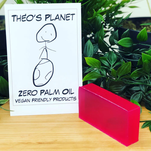 New! Raspberry, with real Raspberry Seed Oil - Théo's Planet Soap Bar