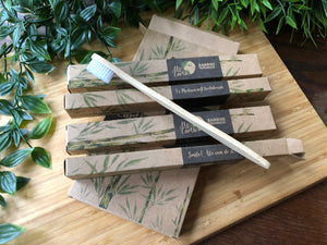 Family Pack of 4 - Medium Bamboo Toothbrushes