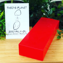 Load image into Gallery viewer, New! Cherry, with real Cherry Kernel Oil - Théo's Planet Soap Bar