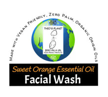 Load image into Gallery viewer, New! Sweet Orange Essential Oil Facial Wash - Théo's Planet 100g