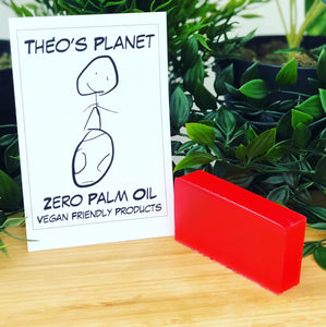 New! Cherry, with real Cherry Kernel Oil - Théo's Planet Soap Bar