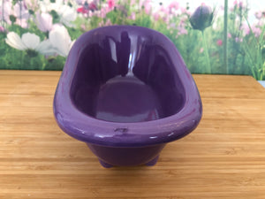 Mini Ceramic Bath Tub - Purple