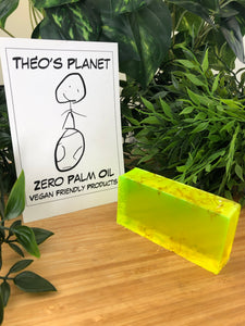 New! Citronella, Tea Tree & Lime Essential Oils - Théo's Planet Soap Bar