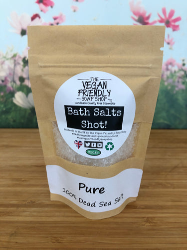 Pure 100% Natural Dead Sea Salts - Bath Salts Shots