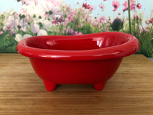 Load image into Gallery viewer, Mini Ceramic Bath Tub - Red