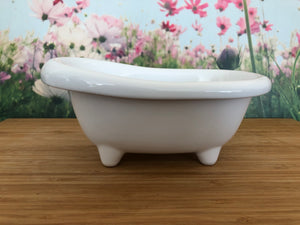 Mini Ceramic Bath Tub - White