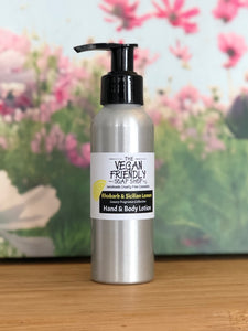 Rhubarb & Sicilian Lemon, Luxury Fragrance - Hand, Face, Foot & Body Lotion 100g