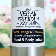 Load image into Gallery viewer, Sweet Orange & Rosemary, Essential Oils Signature Blends - Hand, Face, Foot & Body Lotion 100g