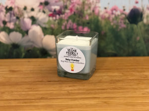 Baby Powder - Natural Soy Wax Candle with Bamboo Gift Box