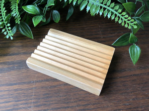 Groovy - Natural Wooden Soap Holder
