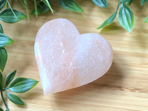 Heart Shaped - Pink Himalayan Rock Salt Deodorant Stone