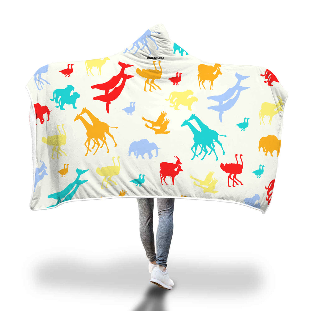 Noah's Ark Hooded Blanket - AMENPAPA Fashion