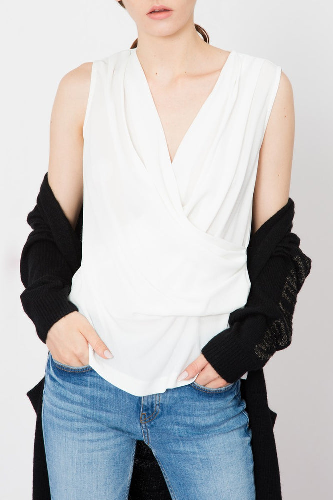 Wrap Georgette Tank Top