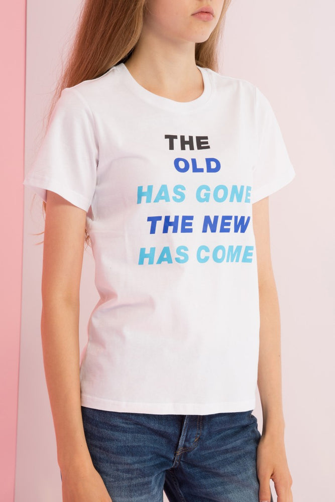 The Old Has Gone Printed Tee