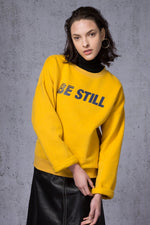 Be Still Printed Fleece Sweatshirt