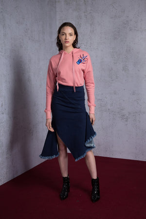 Asymmetric Paneled Skirt - AMENPAPA Fashion
