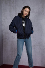 Believe in Miracle Patchwork Padded Bomber Jacket - AMENPAPA Fashion
