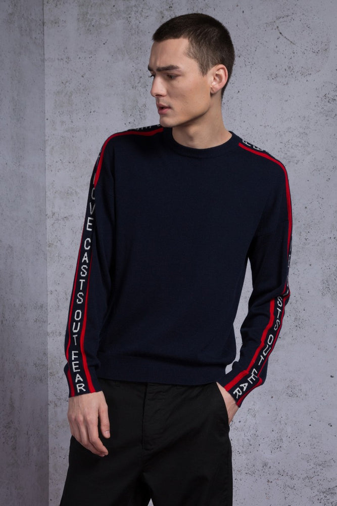 Perfect Love Casts out Fear Striped Sweater - AMENPAPA Fashion