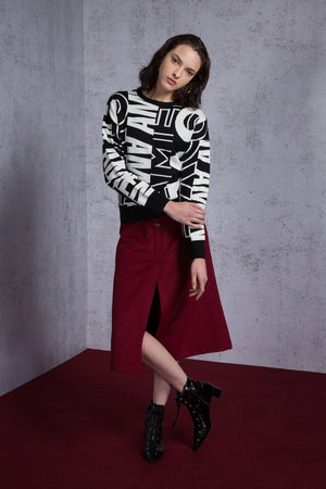 Oversize Intarsia Sweater - AMENPAPA Fashion