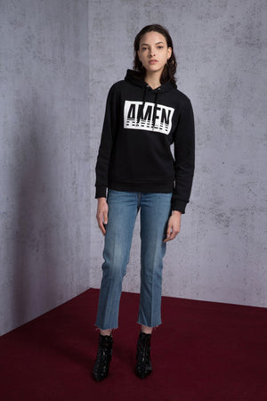 Hooded AMEN Printed Sweatshirt - AMENPAPA Fashion