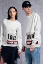 Love Never Fails Printed Sweatshirt