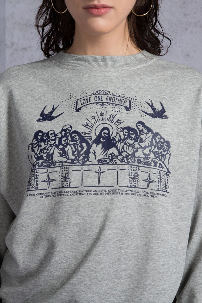 2 Ways Last Supper Sweatshirt - AMENPAPA Fashion