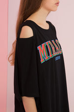 Oversized Miracle Printed Top with Shoulder Slit