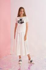 Be Still Printed Asymmetric Tee