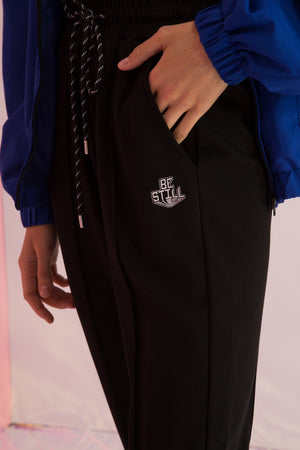 Be Still Embroidered Logo Joggers - AMENPAPA Fashion