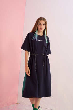 God Knows Embroidered Cinch Waist Dress - AMENPAPA Fashion