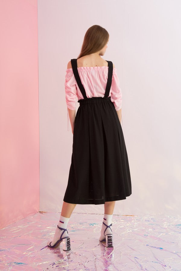 Detachable Suspenders Overall Skirt - AMENPAPA Fashion