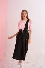 Detachable Suspenders Overall Skirt