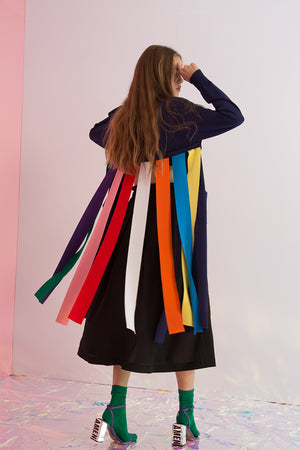 Rainbow Streamers Cardigan - AMENPAPA Fashion