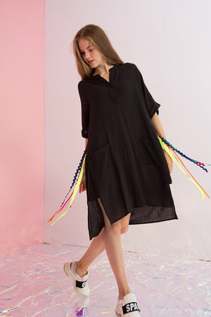 Rainbow Streamers Tunic Dress - AMENPAPA Fashion
