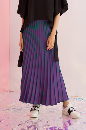 Pleated Knit Maxi Skirt - AMENPAPA Fashion