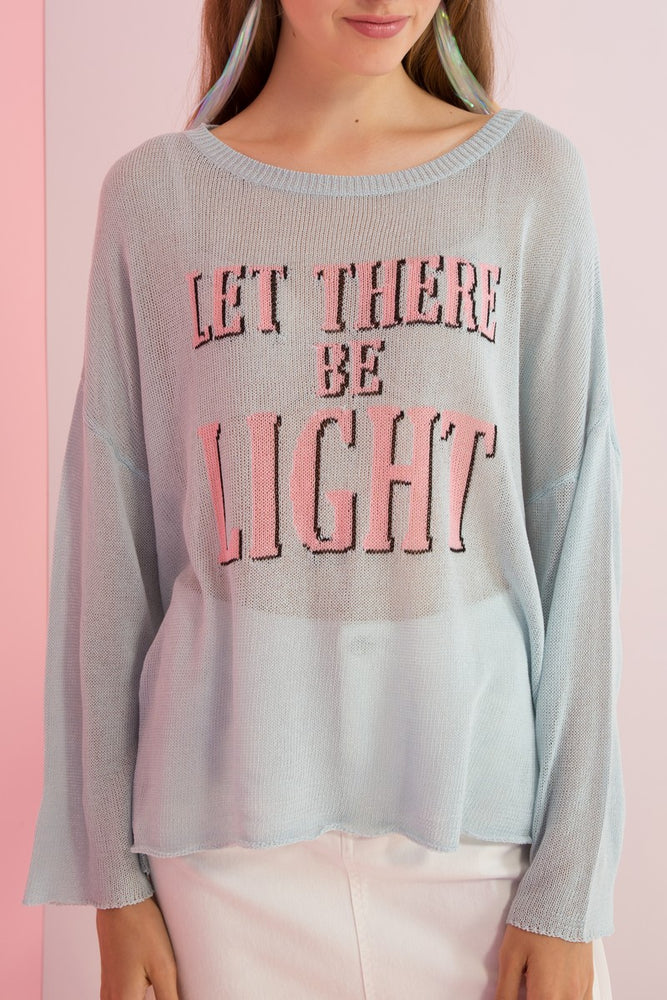 Let There Be Light Knit Sweater - AMENPAPA Fashion