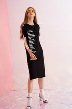 Blessed Printed Block of Text Jersey Dress