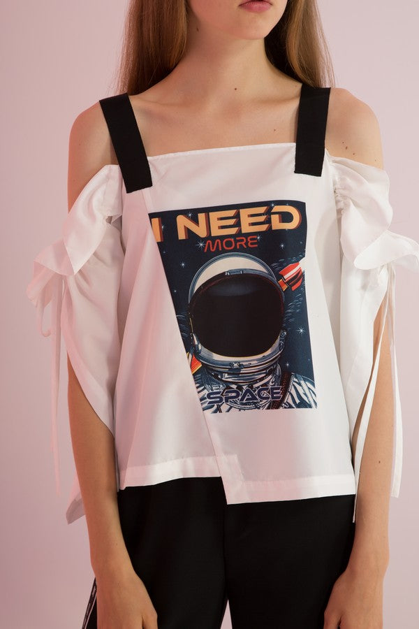 Need More Space Graphic Top - AMENPAPA Fashion