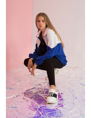 Oversized Hallelujah Color Blocked Windbreaker - AMENPAPA Fashion