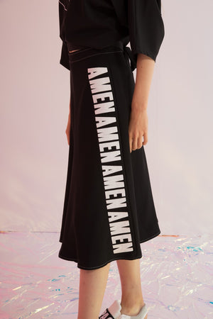 Amen Embroidered Asymmetric Skirt - AMENPAPA Fashion