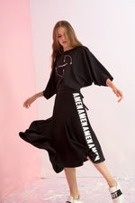 Amen Embroidered Asymmetric Skirt