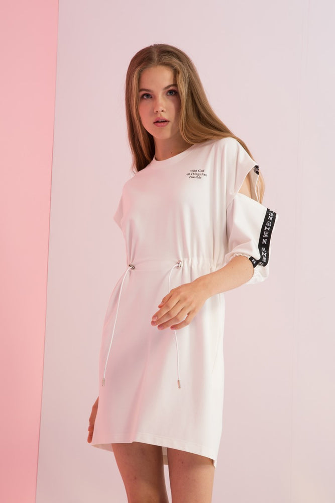 Amen Grosgrain-Trimmed Jersey Dress - AMENPAPA Fashion